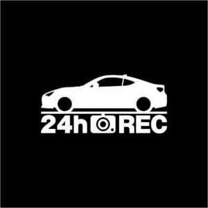 【ドラレコ】スバル BRZ【ZC系】後期型 24時間 録画中 ステッカー