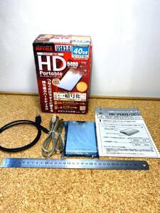 F255 electrification OK valuable BUFFALO portable hard disk HD-PH40U2 attached outside
