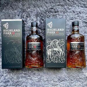 ハイランドパーク 18年,12年 スコッチウイスキー ハイランド 新品未開封 2本セット 送料込!