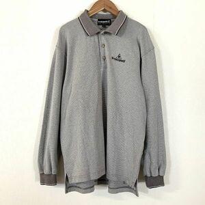 le coq sportif golf ルコックゴルフ 長袖 ポロシャツ メンズ Sサイズ グレー golf