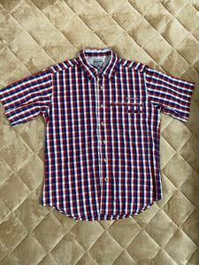 週末限定値下げ コロンビア チェックシャツ 半袖