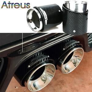 トップ品質ミニクーパーF54 F55 F56 F57 R60 R61 F60 R55 R56 R57 R58 R59 s jcwカーボン繊維排気エキゾーストマフラーヒントパイプ車のア