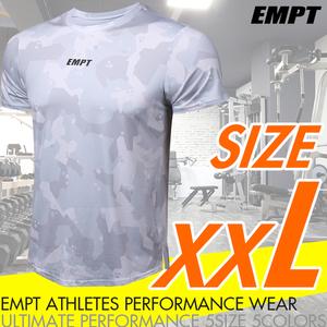 EMPT メンズ トレーニングウェア 半袖 グラフィックカモホワイト XXL   トレーニング に最適な スポーツウェア / ジムウェア メンズ 男