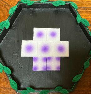 つまみ細工 カット生地90枚  紫