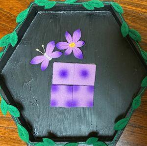 つまみ細工 カット生地90枚 紫×薄紫