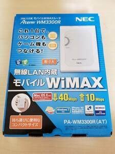 NEC 無線LAN内蔵モバイルWiMAXルータ PA-WM3300R(AT)