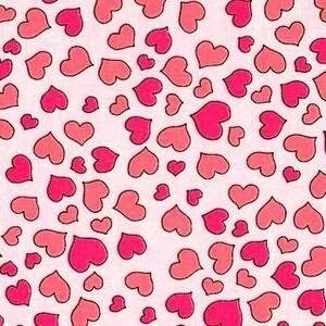 45*USAコットンロラライハリスMini Heart黒ハンドメイド生地布地
