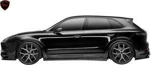 【M's】Porsche CAYENNE 9YA (2018y-) WALD Black Bison サイドステップ 左右//FRP製 ヴァルド バルド ブラックバイソン エアロパーツ