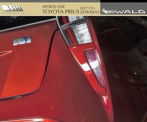 【M's】トヨタ プリウス 50系 ZVW50/55(H27.12-)WALD SPORTS LINE テールランプトリム/PRIUS ABS ヴァルド バルド スポーツライン エアロ