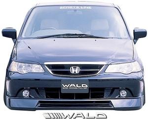 【M's】ホンダ RA6/RA7 オデッセイ アブソリュート (H13.12-H15.9) WALD Sports Line フロントスポイラー//FRP製 ヴァルド バルド エアロ