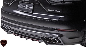 【M's】Porsche カイエン 9YA (2018y-) WALD Black Bison リアスカート//FRP製 ヴァルド バルド エアロ リヤスカート ポルシェ CAYENNE