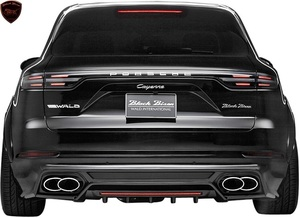 【M's】Porsche CAYENNE 9YA (2018y-) WALD Black Bison リアスカート//FRP製 ヴァルド バルド エアロ リヤスカート ポルシェ カイエン