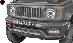 【M's】スズキ ジムニー シエラ (H30.8-)WALD Black Bison フロントバンパースポイラー/FRP ヴァルド バルド エアロ SUZUKI JIMNY SIERRA