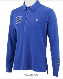 ルコックゴルフ le coq sportif GOLF ゴルフ メンズウェア 秋冬モデル ソリストサーモ 起毛 長袖ポロシャツ 35%OFF L ブルー QGMOJB10