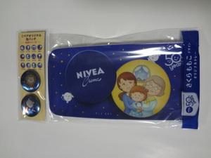 新品☆ニベアオリジナル缶バッチ(星座シリーズ)+ニベアクリーム日本発売50周年記念さくらももこデザインオリジナルトレー☆50years 非売品