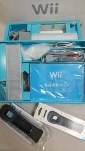 送料無料 Wii本体 モーションプラス黒1個付き 白 箱アリ 中古USED