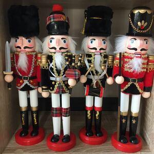 クリスマスナッツクラッカーくるみ割り人形4体セット*新品