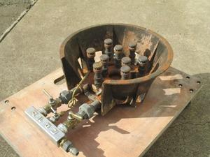y1110-37 業務用 マルゼン ハイカロリーバーナー 1口ガスコンロ W350×D490×H150 鋳物コンロ 店舗用品 中古 厨房