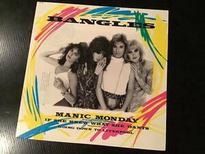 The Bangles 12 inch single. / MANIC MONDAY 国内盤 バングルス マニックマンディ