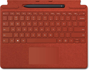マイクロソフト スリムペン付き Surface Pro X Signature キーボード 日本語 25O-00039 ポピーレッド