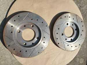 Peugeot 205 309 GTI other * rear brake rotor * brake disk * drilled slit *2 sheets * unused storage goods!