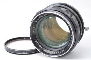現状扱い ミノルタ MINOLTA AUTO ROKKOR-PF 58mm F1.4 【1236752】 ♯9773-1