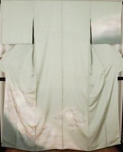 【送料無料】訪問着★正絹★汕頭刺しゅう花喰鳥・唐花 ki25439【新品】