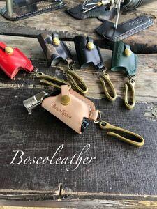 sotoマイクロトーチ専用本革カバー真鍮フックtype