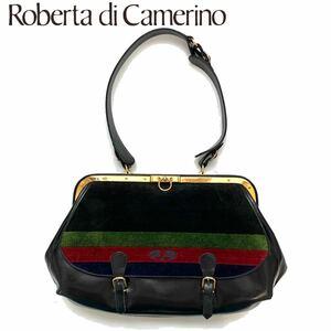 【送料無料】Roberta di Camerino ロベルタディカメリーノ トートバッグ ベロア レザー レディース 肩掛け ハンドバッグ