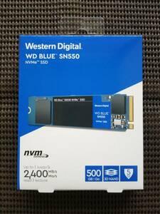 【新品】WD BLUE SN550 NVMe M.2 SSD 500GB Western Digital 未開封品