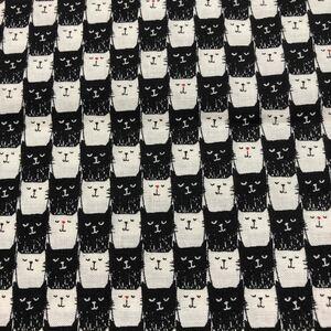 生地 猫ちゃん柄 スケア 約110センチ×約50センチ
