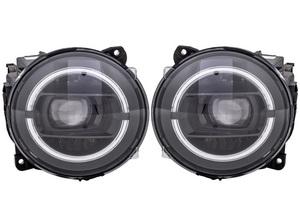 ※要在確 HELLA製 ベンツ Gクラス W463A LEDヘッドライト 左右 ゲレンデ G350d G63 インナーブラック マトリックス ナイトパッケージ