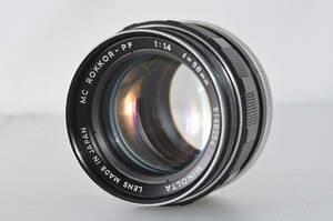 ミノルタ MINOLTA MC ROKKOR-PF 58mm F1.4 ★実用美品★ #s459