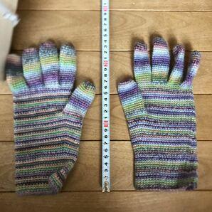 ハンドメイド 毛糸 手袋