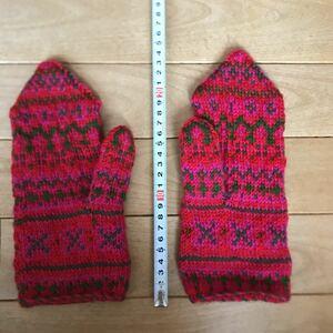 ハンドメイド 手作り 手袋 グローブ 毛糸