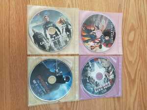 早い者勝ち マーベル DVD 4点セット 国内正規品 未再生 キャプテンアメリカ スパイダーマン