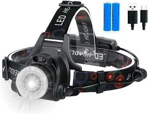 【LED ヘッドライト】【充電式】【高輝度】【人感センサー付き】【登山】 【USB】【アウトドア】
