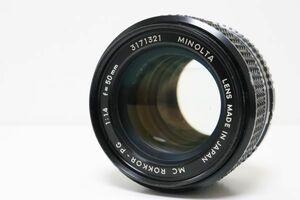【良品】ミノルタ MINOLTA MC ROKKOR-PG 50mm F1.4 防湿庫保管品  S209