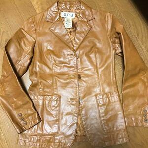 SPB レザーキャメルジャケット