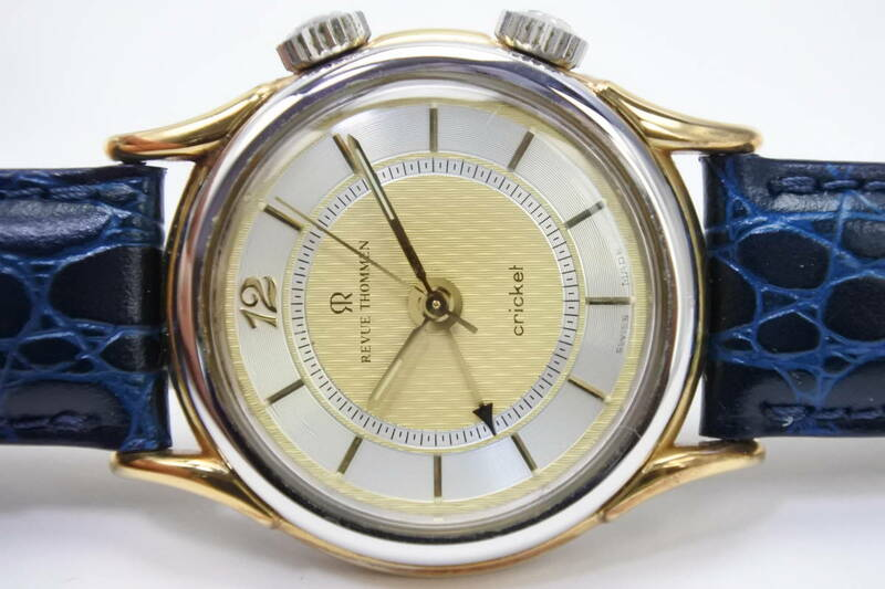 ☆☆☆スイス名門 REVUE THOMMEN CRICKET アラーム 手巻紳士腕時計 お洒落逸品