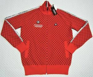 ルコック lecoq ゴルフ用高機能フルジップセーター 赤色/シャドー市松模様 サイズ L 軽量/吸汗速乾/ストレッチ機能 定価 15,400円