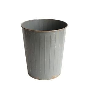 ゴミ箱 ダストボックス アンティーク ヴィンテージ メタル スチール 鉢 グリーン 雑貨 インダストリアル 026