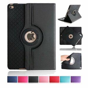 ipad mini5 レザーケース ミニ5 カバー アイパッドミニ5 カバー 全面保護 360度回転 カード収納 ブラック