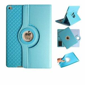 ipad mini5 レザーケース ミニ5 カバー アイパッドミニ5 カバー 全面保護 360度回転 カード収納 ブルー