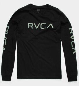 RVCA Big RVCA Long Sleeve T-Shirt Black/Green XL Tシャツ