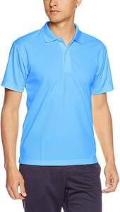 [グリマー] 半袖 4.4オンス ドライ ポロシャツ [UV カット] 00302-ADP 色:サックス