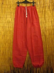 ⑥新品*男女兼用*二色の糸*織りコットン素材*アラジン風シルエット*イージーパンツ