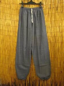 ⑧新品*男女兼用*二色の糸*織りコットン素材*アラジン風シルエット*イージーパンツ