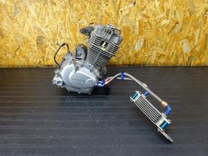 【000B-210201】FTR223(MC34-1002)■ 中古エンジン 始動確認OK!! ジェネレーター セルモーター 社外オイルクーラー アクティブ?? ACTIVE??