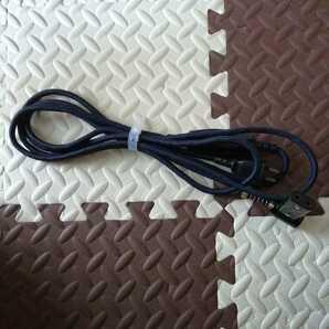 美品 こたつコード L型プラグ3m程度 送料無料 コード紺色 引掛け金具付